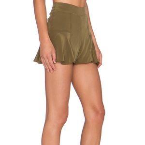 Stone Cold Fox Green Silk Shorts